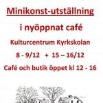 Minikonst på Caféet