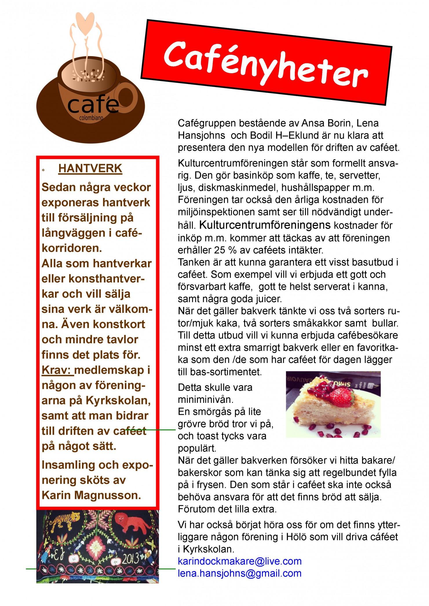 infoblad, café