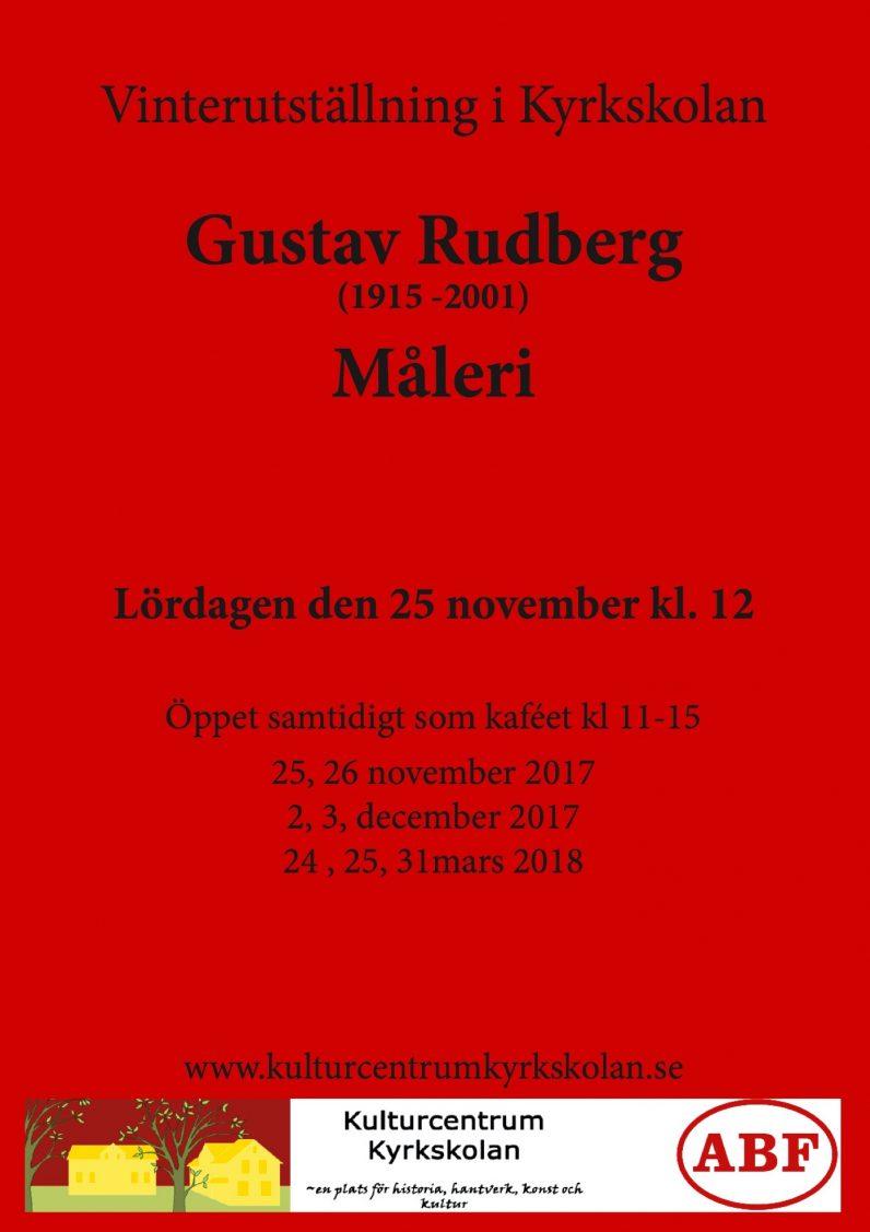 Konstutställning Gustav Rudberg @ GULA SALEN /KYRKSKOLAN I HÖLÖ