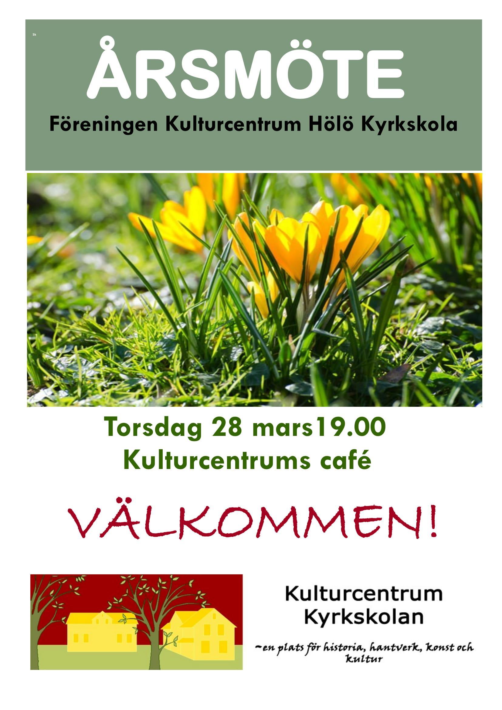 Årsmöte Kulturcentrum Hölö Kyrkskola