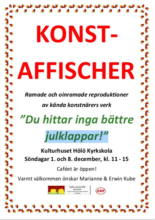 Konstaffischer @ Hölö Kyrkskola