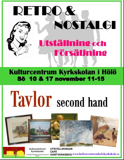 Retro&Nostalgi och Tavlor second hand @ Hölö Kyrkskola