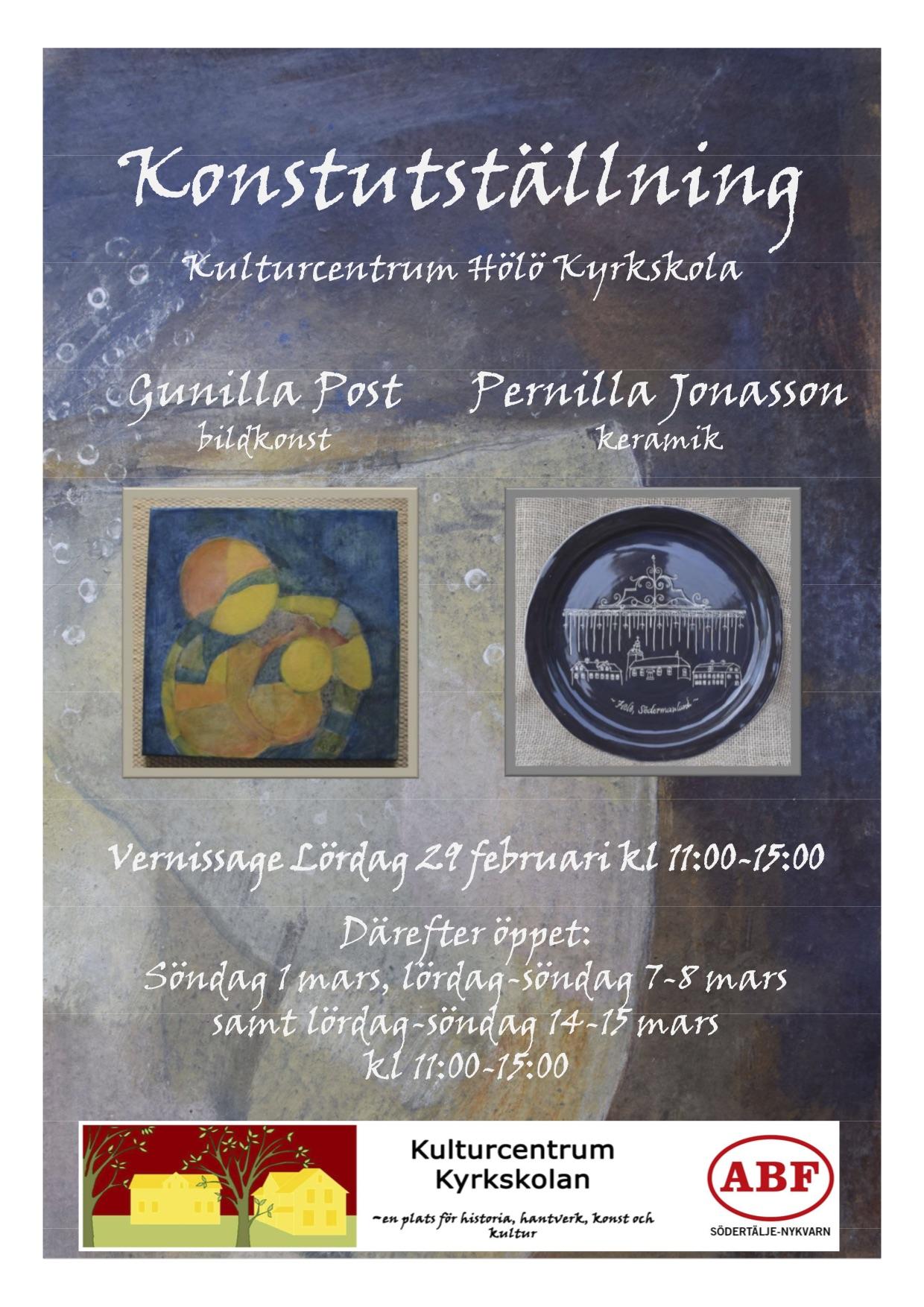 Konstutställning bildkonst och keramik @ Hölö Kyrkskola